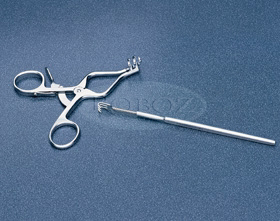 Pictured (left to right) : RS-8600 - WEITLANDER Surgical Retractor, Rake-style Surgical Retractor (Discontinued Item) - similar to RS-6630 .